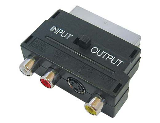 ADAPTOR SCART – 3RCA + S-VIDEO SWITCH