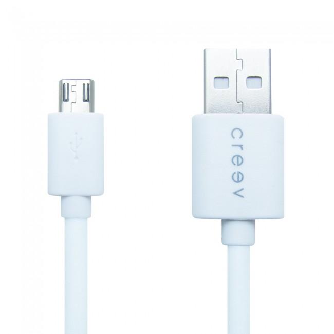 ΚΑΛΩΔΙΟ MICRO USB MU-100 WHITE CRYPTO