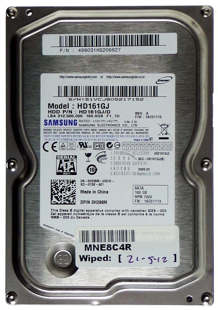 ΔΙΣΚΟΣ HDD  SAMSUNG HD161GJ 160GB USED