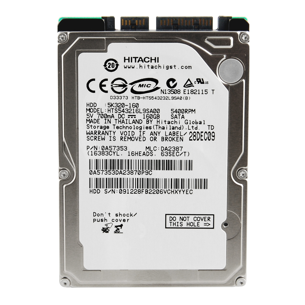 ΔΙΣΚΟΣ HDD HITACHI 250GB 5K250 2.5 USED