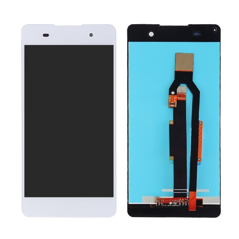 ΟΘΟΝΗ LCD ΓΙΑ SONY XPERIA E5 WHITE + FRAME ORIGINAL