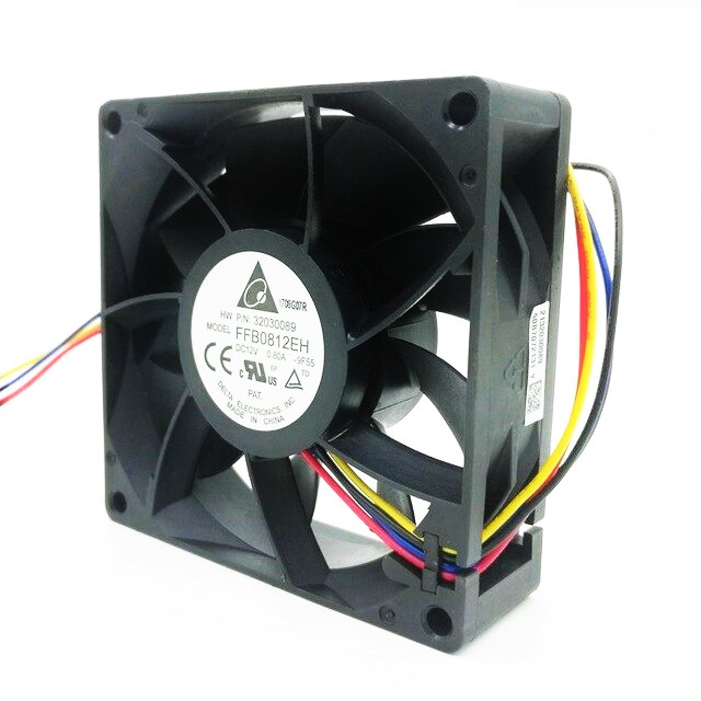 VGA FAN 4 PIN 80/80/25MM 12V
