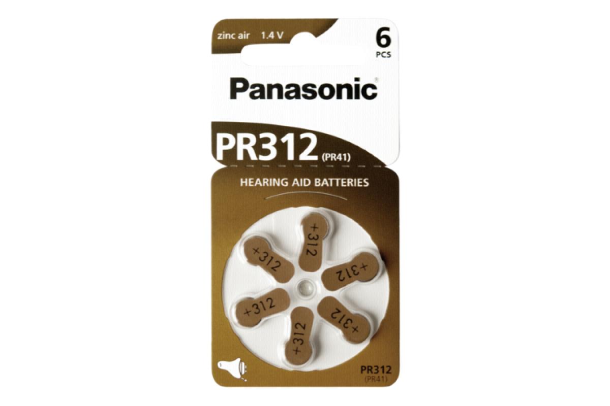 ΜΠΑΤΑΡΙΑ ΒΑΡΗΚΟΪΑΣ PR312 PANASONIC (6/Τεμ.)