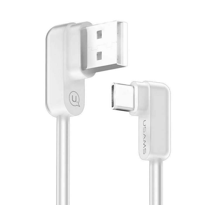 ΚΑΛΩΔΙΟ USB TYPE-C USAMS 1.2M WHITE (ΓΩΝΙΑ) US-SJ167