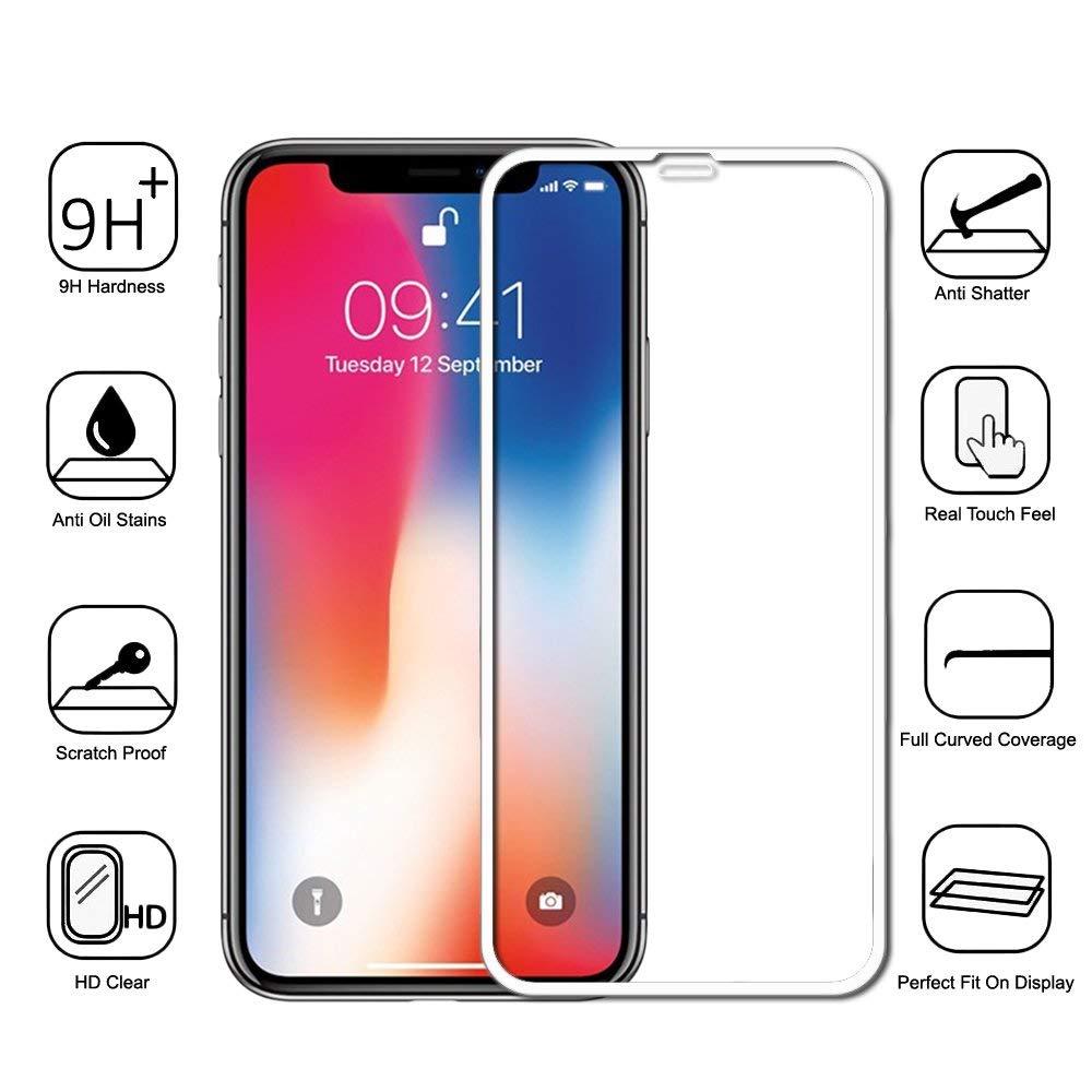 ΤΖΑΜΙ ΚΙΝΗΤΟΥ IPHONE XS 5D WHITE
