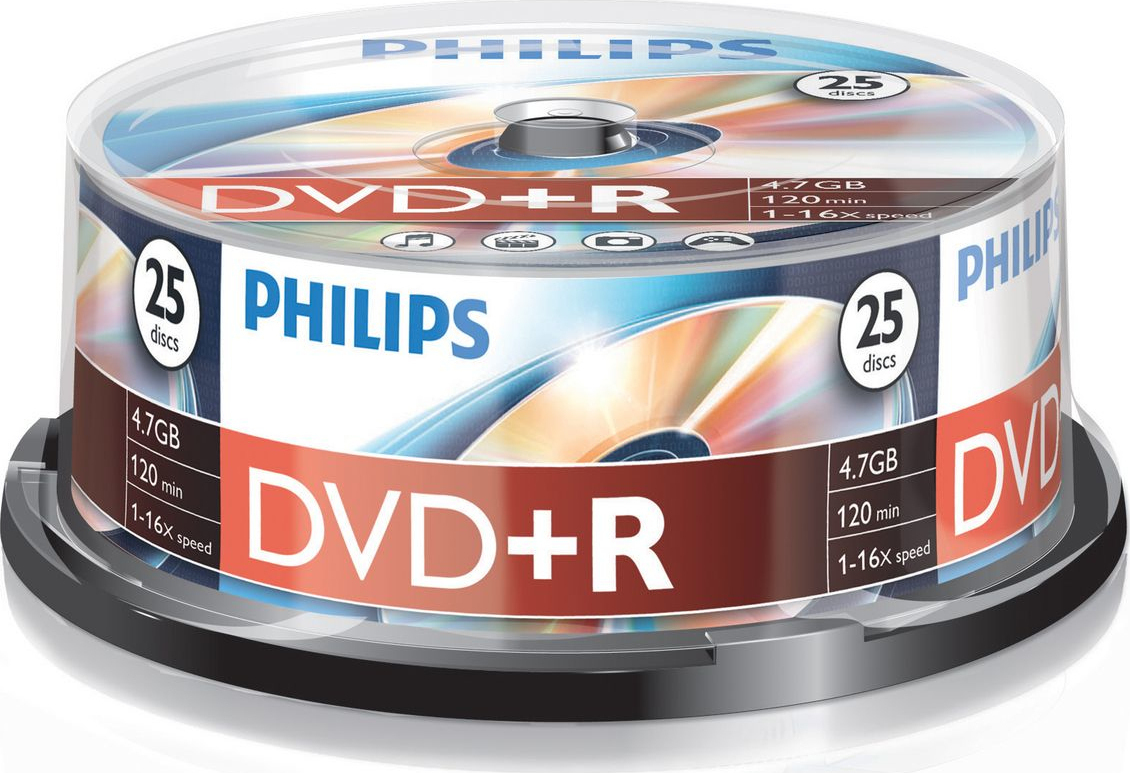 DVD-R PHILIPS 4.7GB 16x (25 PACK)