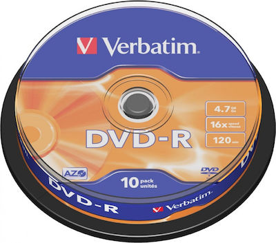 DVD-R VERBATIM 4.7GB 16X (10 PACK)