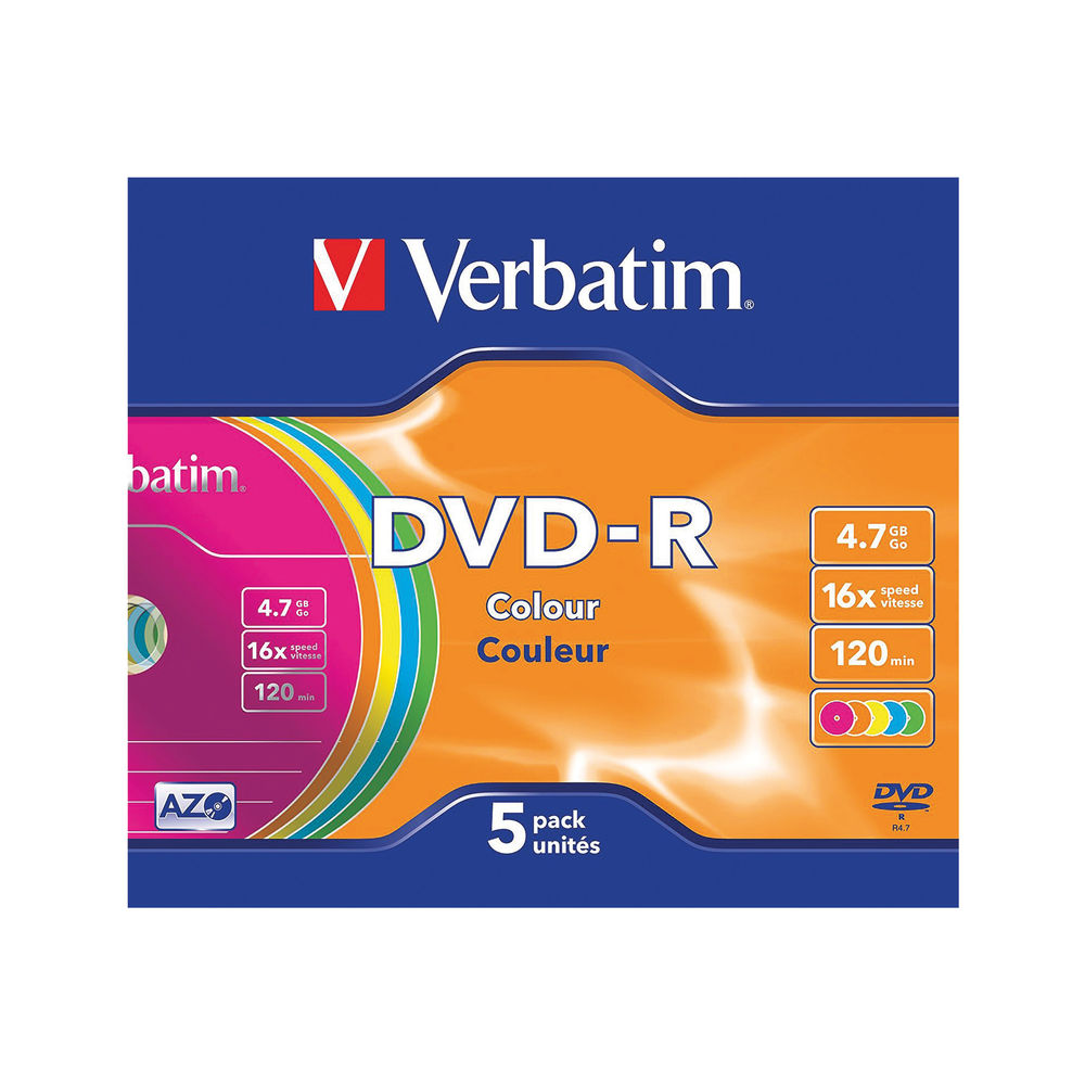 DVD-R VERBATIM 4.7GB 16X (5 PACK)