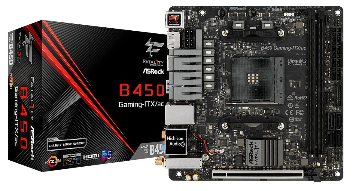 MOTHERBOARD ASROCK B450 GAMING K4 FATALITY AMD SOC