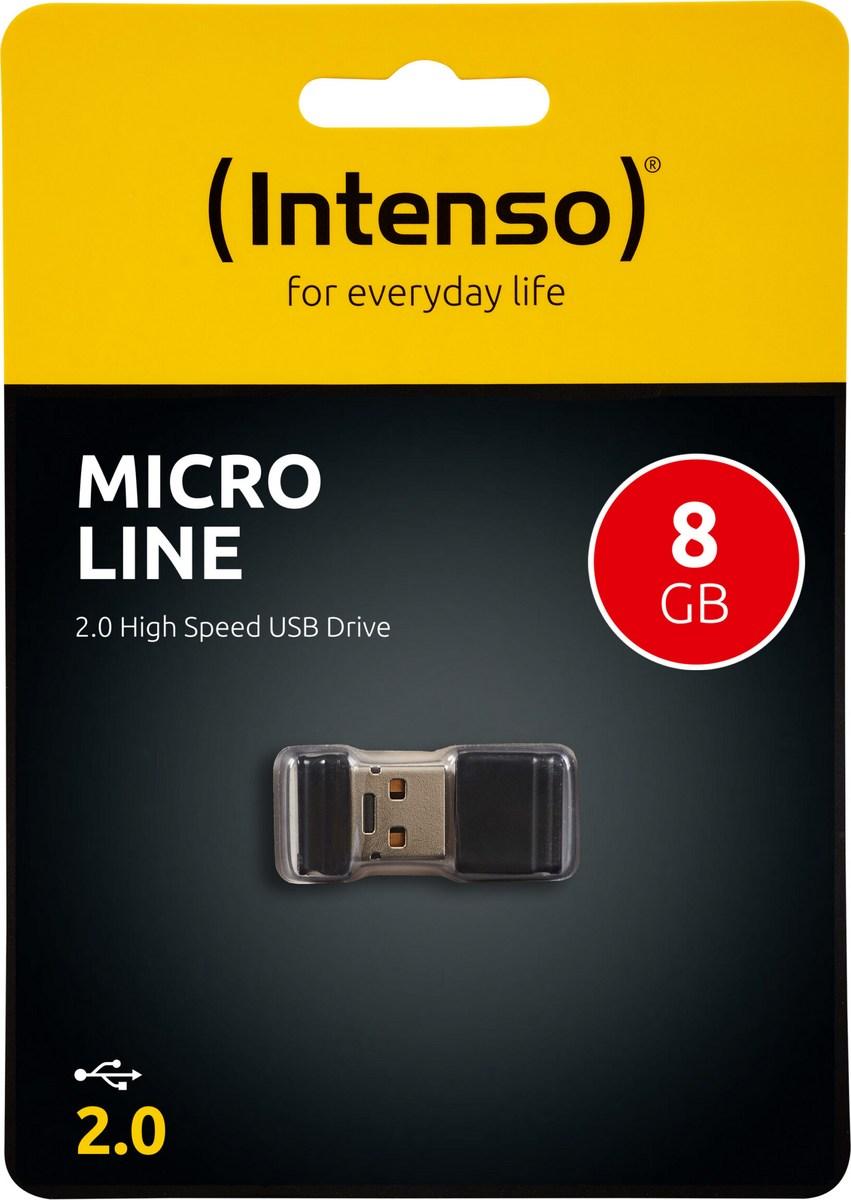 ΜΝΗΜΗ USB FLASH 8GB INTENSO USB 2.0 MICRO LINE