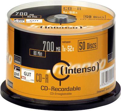 CD-R INTENSO 700mb 52x (/τεμ)