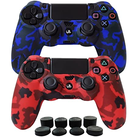 SILICONE CASE PS4 DUALSHOCK 4 CAMUFLAGE RED-BLUE