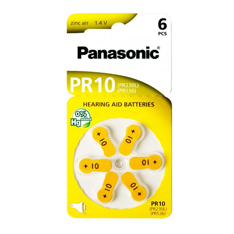 ΜΠΑΤΑΡΙΑ ΒΑΡΗΚΟΪΑΣ PR10 PANASONIC (6/Τεμ.)